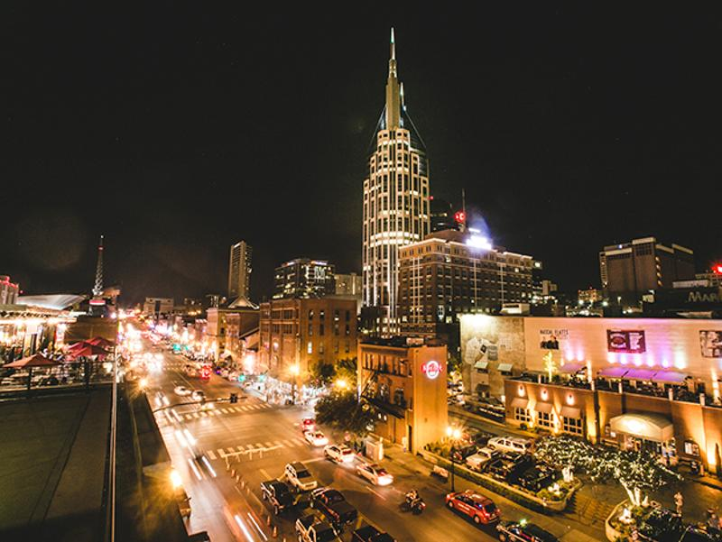 acme rooftop broadway view night