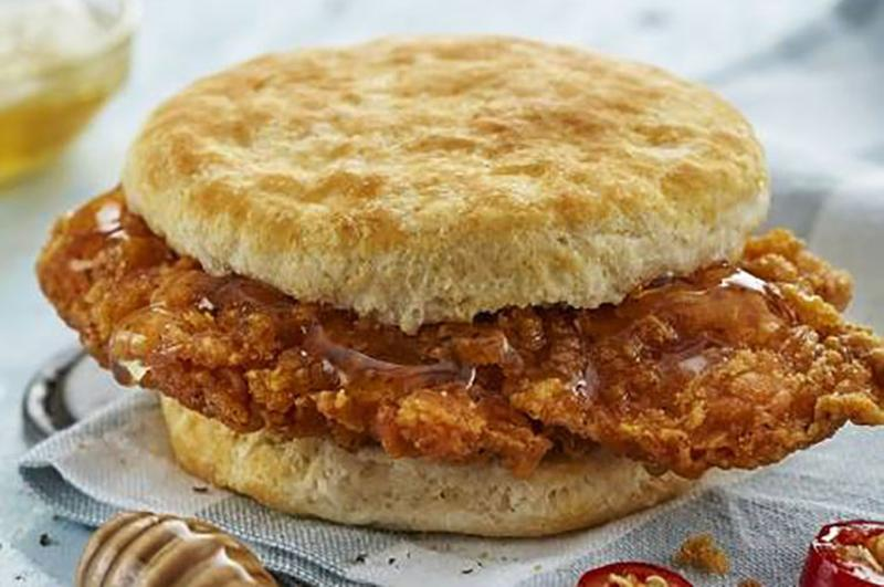biscuitville honey chicken sandwich