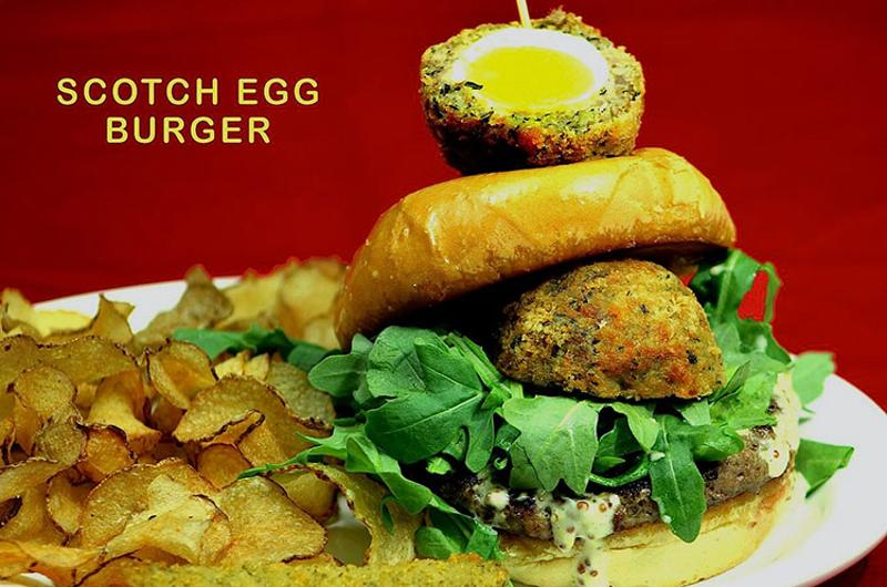 buckeye beer engine scotch egg burger
