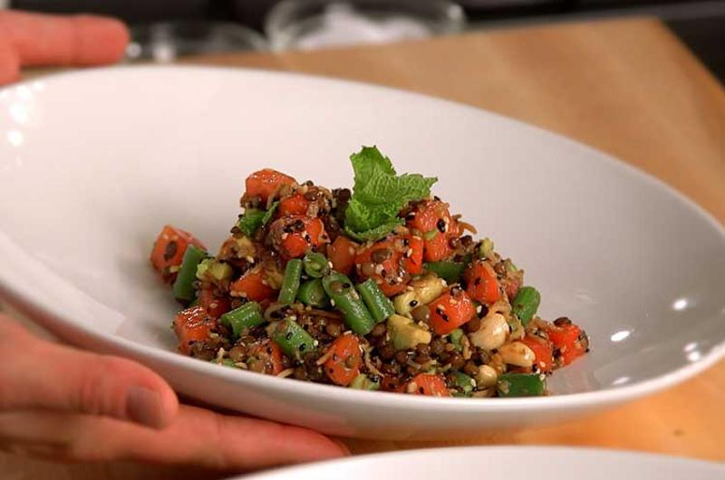 burmese watermelon salad