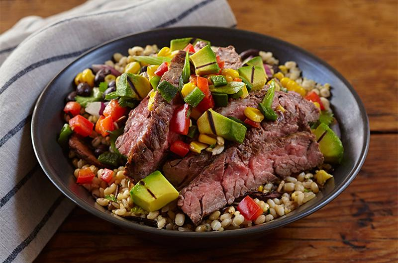 chimichurri steak grilled california avocado bowl