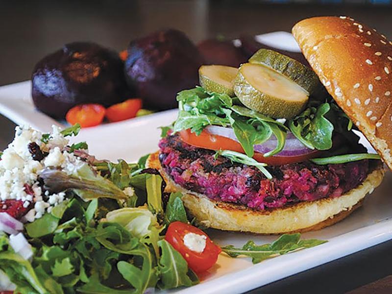 Eureka veggie beet burger