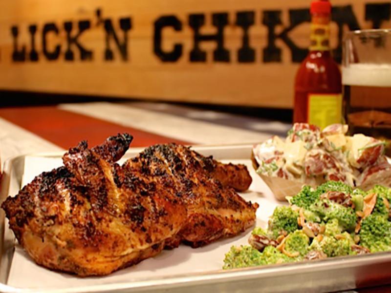 fire lickn chickn plated