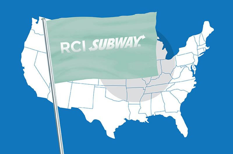 franchising map subway