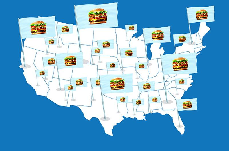 franchising map burgers