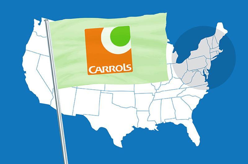 franchising maps carrols
