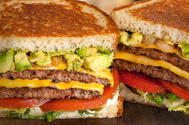 habit sb style burger sandwich