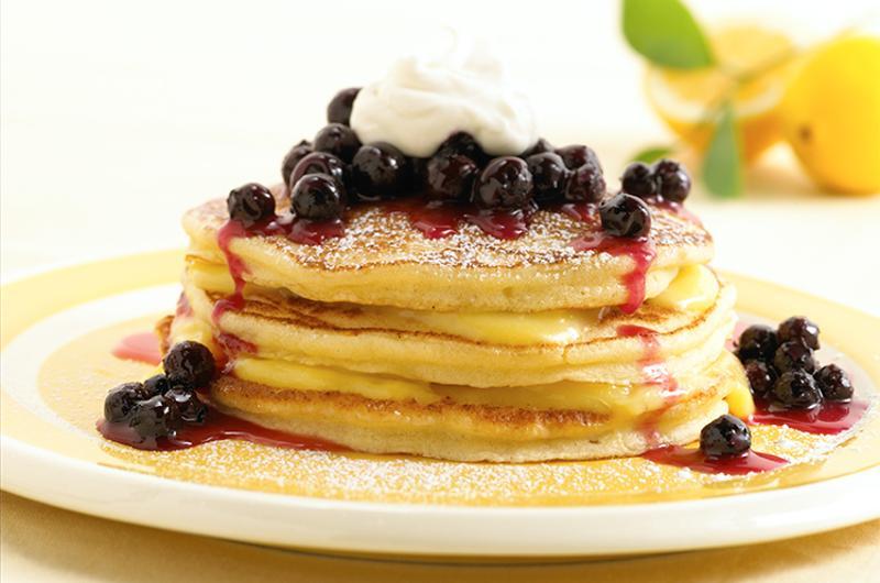 lemon ricotta pancakes blueberry compote