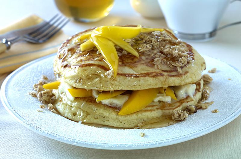 mango bliss pancakes