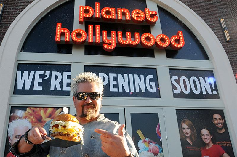 planet hollywood guy fieri burger