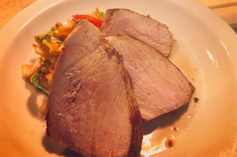 pork flat iron kimchi