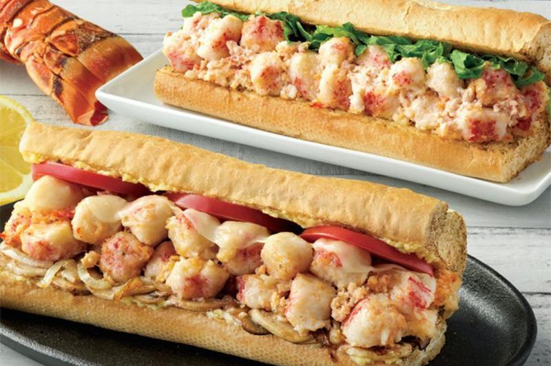quiznos lobster seafood scampi bake