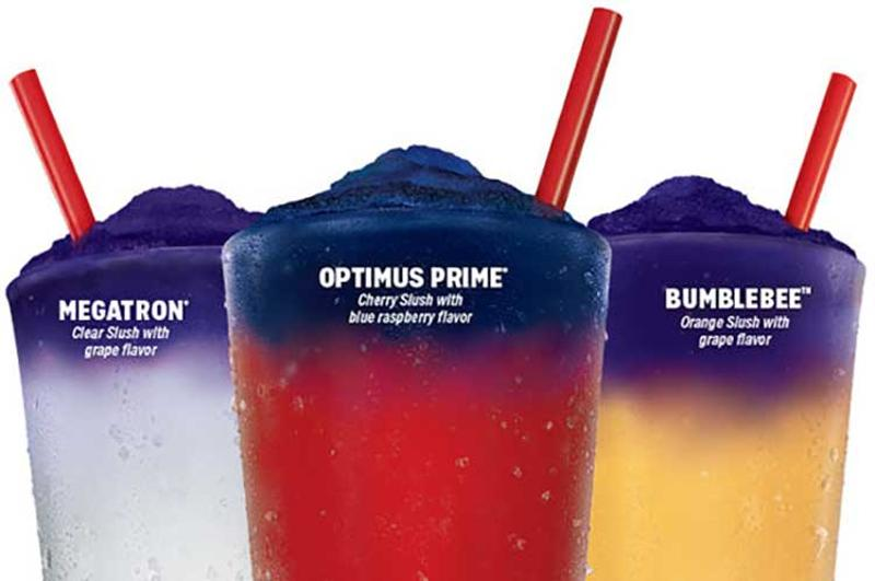 sonic color changing slushes transformers