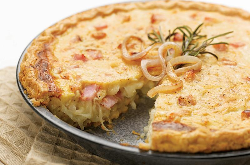sweet savory onion pie