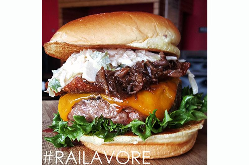 the rail bbq beef burger