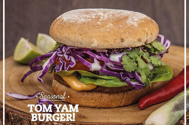 veganburg tom yam burger
