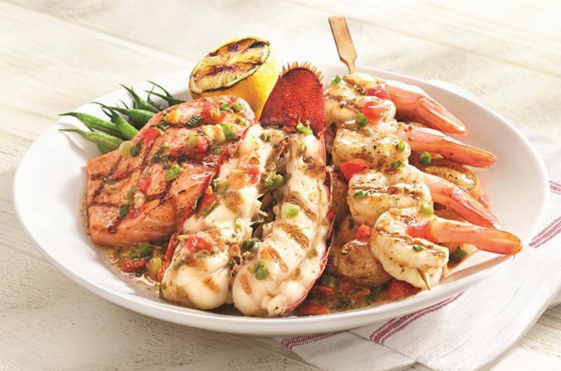 wood grilled lobster shrimp salmon red lobster