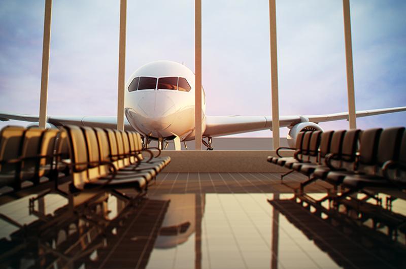 airport terminal plane