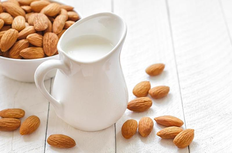 almond milk pitcher
