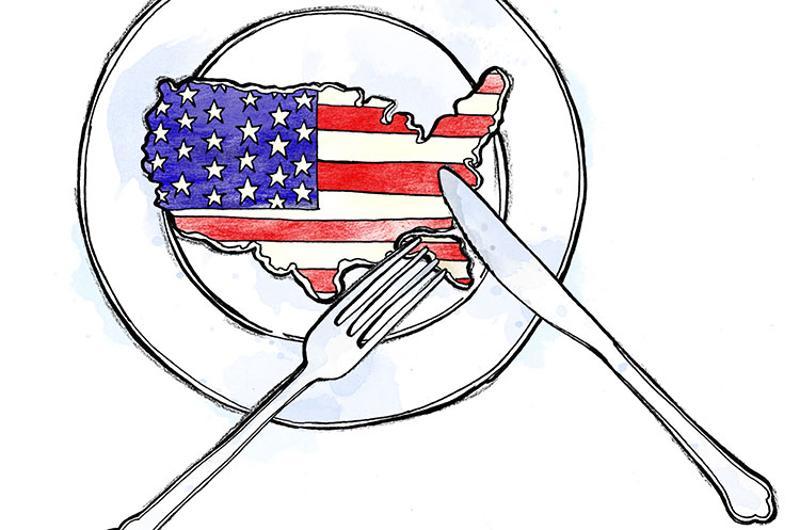 american flag plate