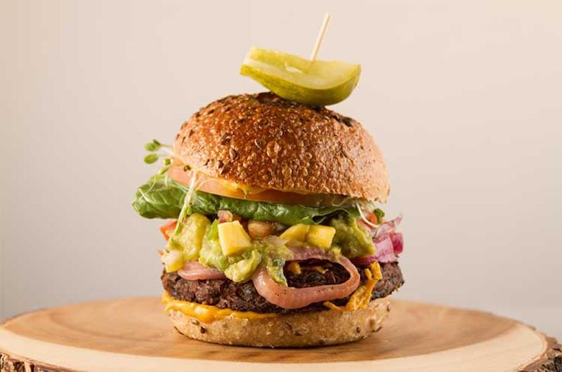 aquafaba burger