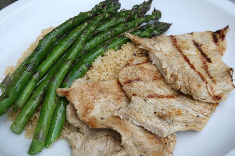 asparagus turkey cutlets
