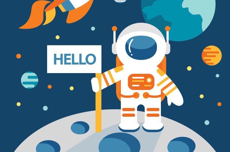astronaut moon landing