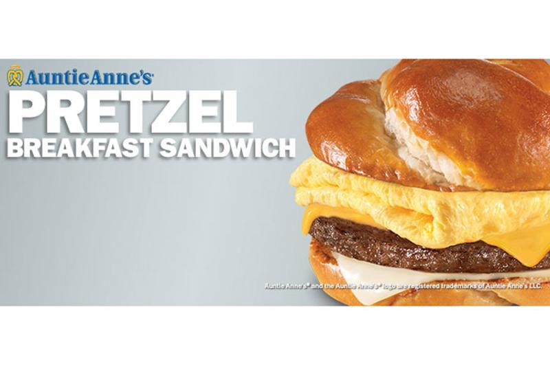 auntie anns pretzel breakfast sandwich