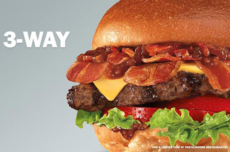 bacon 3 way burger