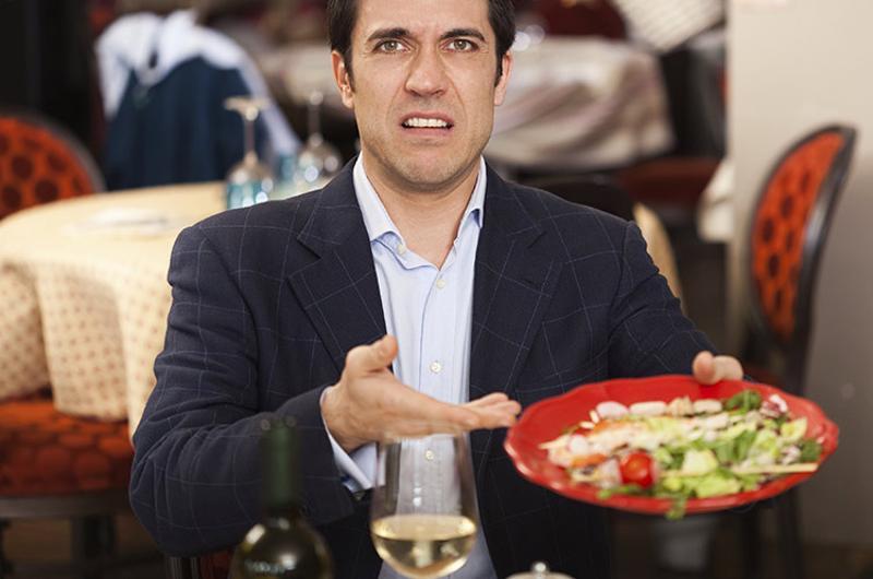 bad customer food slide