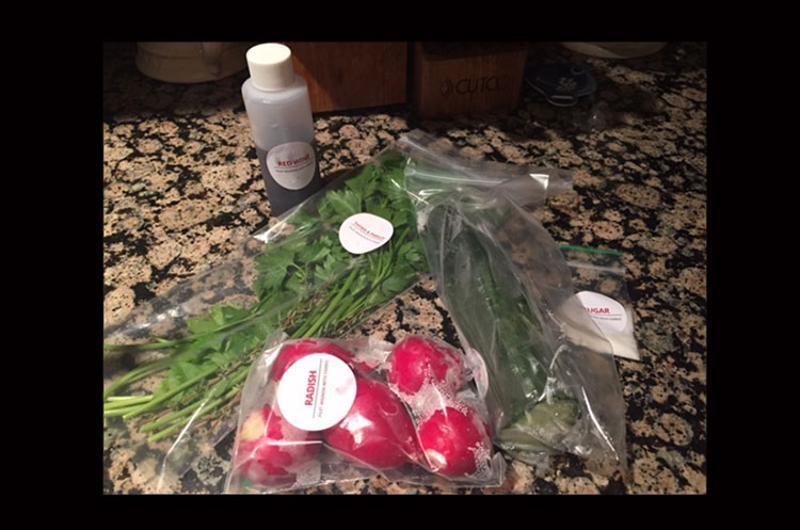 bagged ingredients