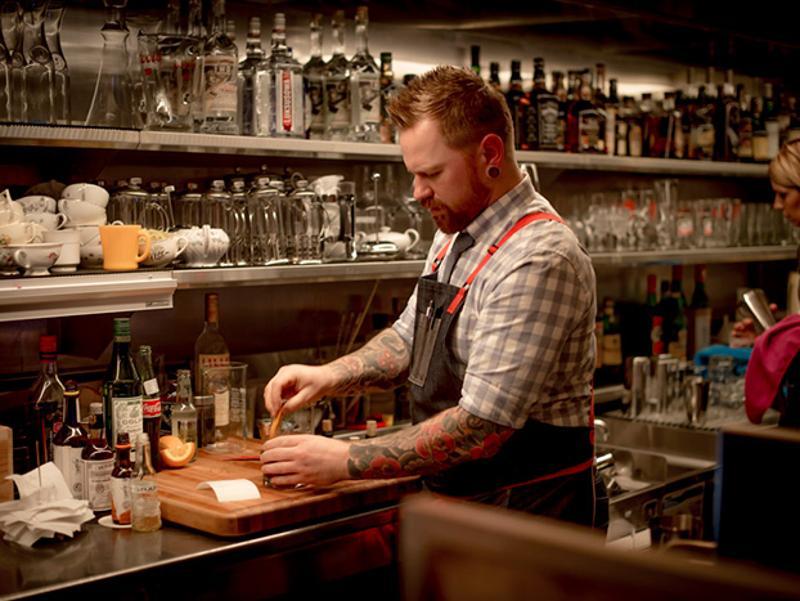 bartender mixing