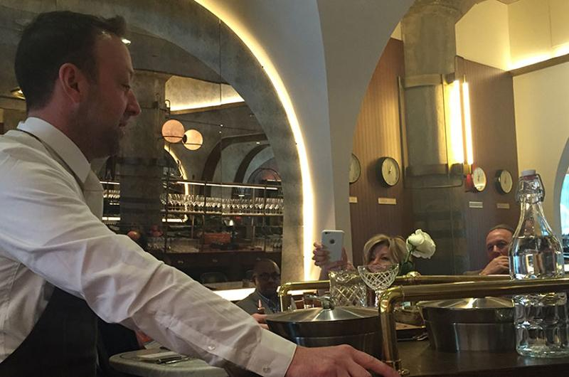 bartender tableside martini