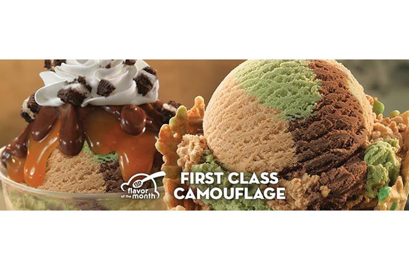 baskin robbins camouflage ice cream