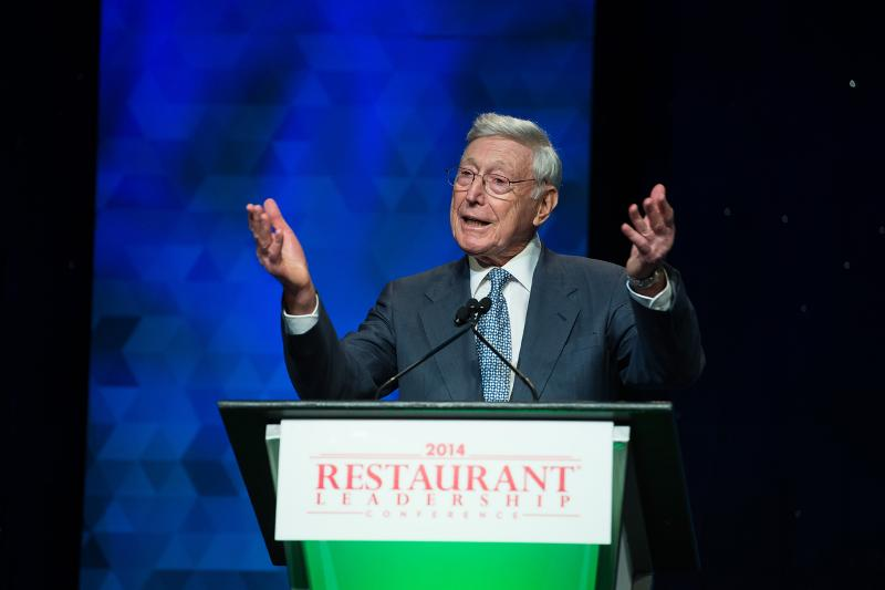 Bernie Marcus, Home Depot at Restaurant Leadership Conference, RLC