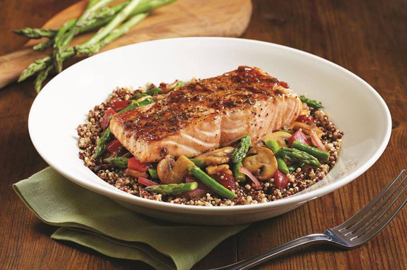 bjs restaurant brewhouse salmon quinoa