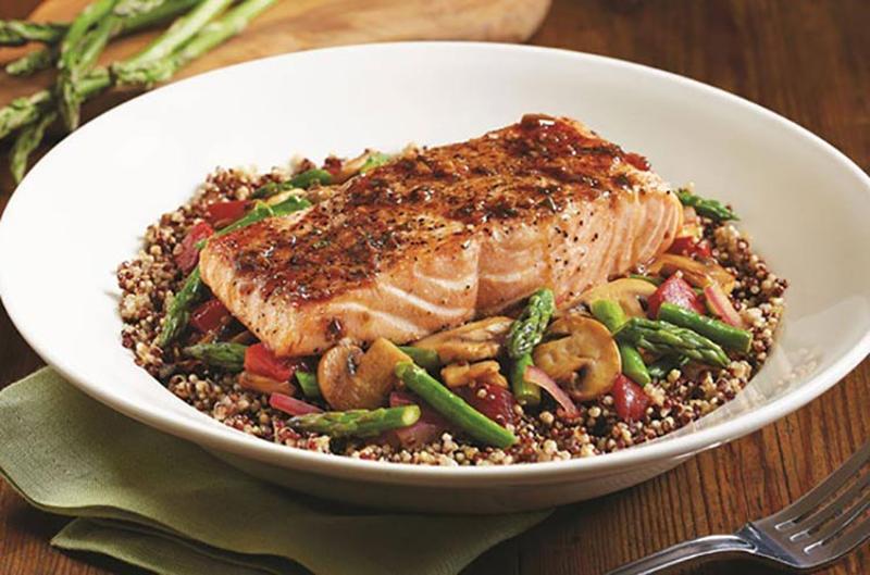 bj restaurant brewhouse salmon quinoa