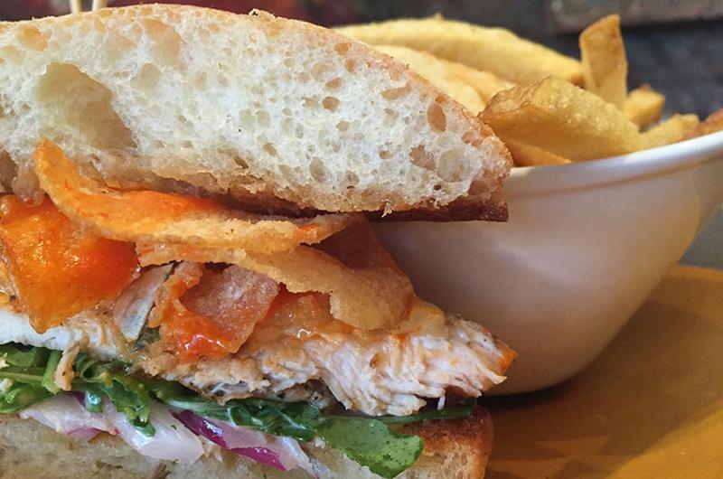 bottlefork chicken sandwich