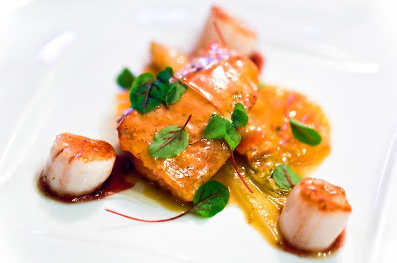 North Carolina Shrimp & Sea Scallops, Bouley, New York City