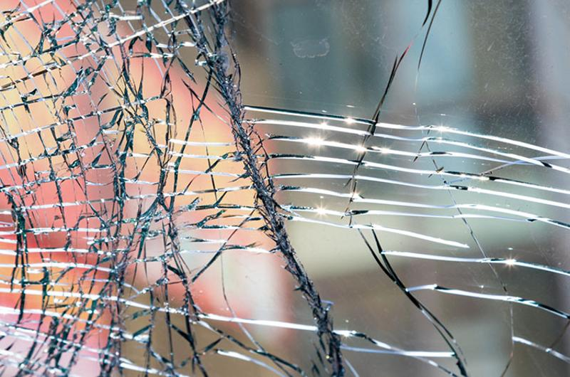 broken glass window