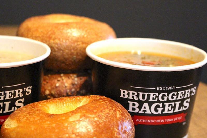 brueggers bagels soup