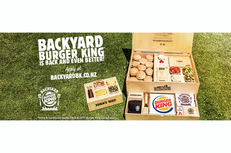 Burger King New Zealand home-grilling promo