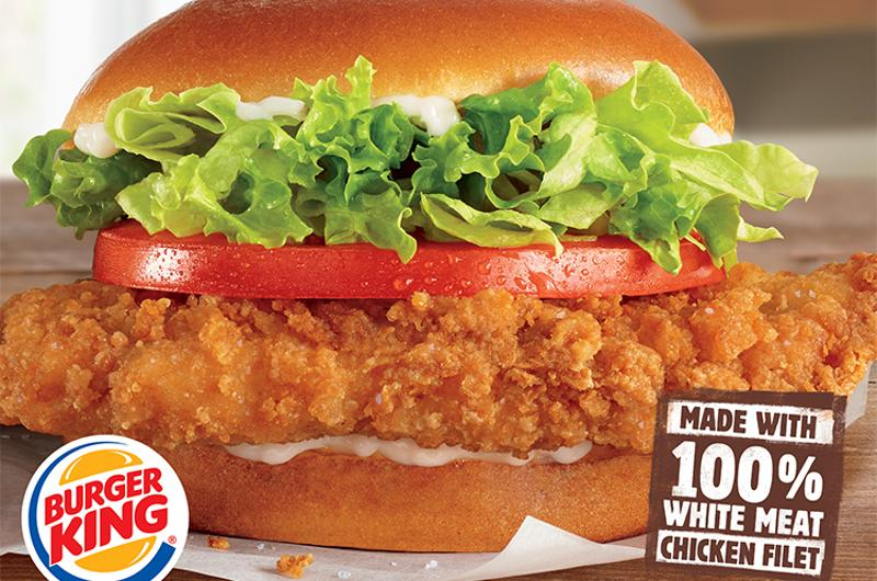 burger king crispy chicken sandwich