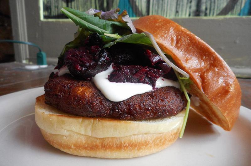 burger stand pumpkin up beet burger