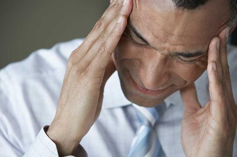 business man headache