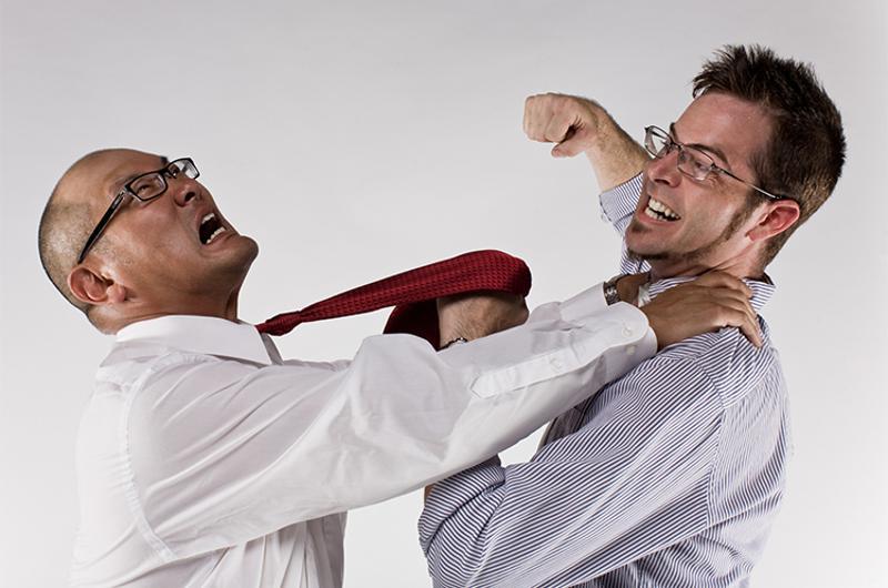 business men fight