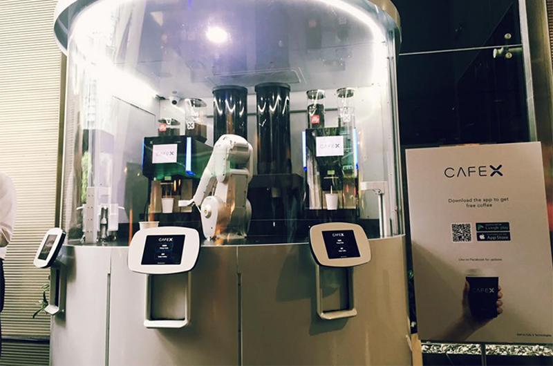 cafe x screens robot