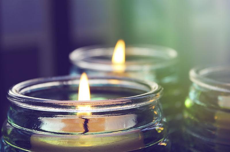 candles jars