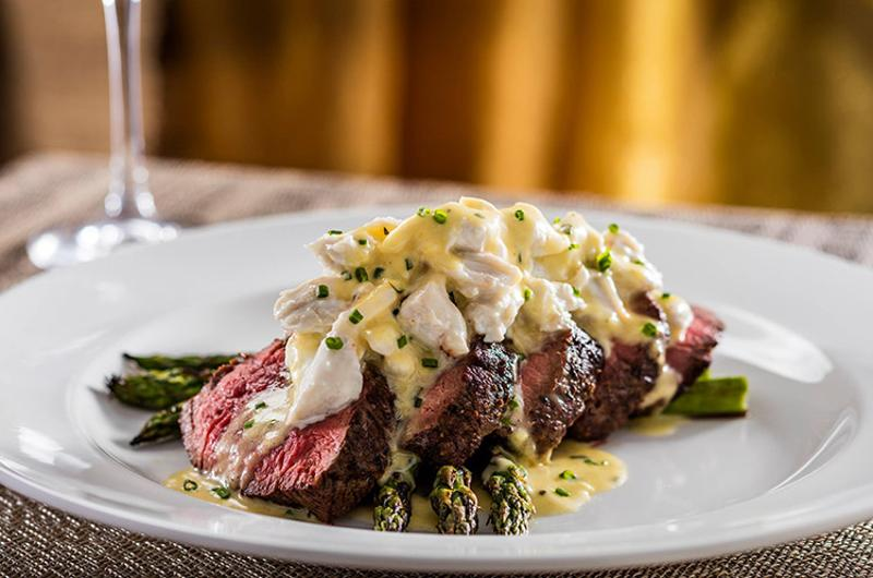 capital grille steak asparagus