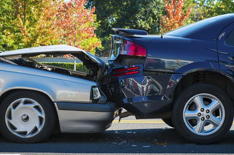 car crash rear end